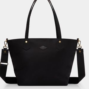 MZ Wallace Metro Tote Black with Gold Hardware (L)